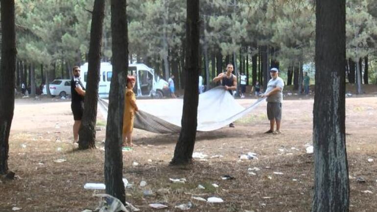 Sarıyerde İsyan ettiren görüntü Piknikçiler geriye çöp yığınları kaldı