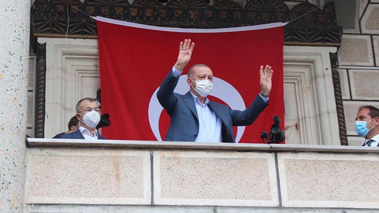 Son dakika: Cumhurbaşkanı Erdoğan, Rizenin Güneysu ilçesinde