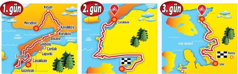 Demir atla Saros'dan İzmir'e
