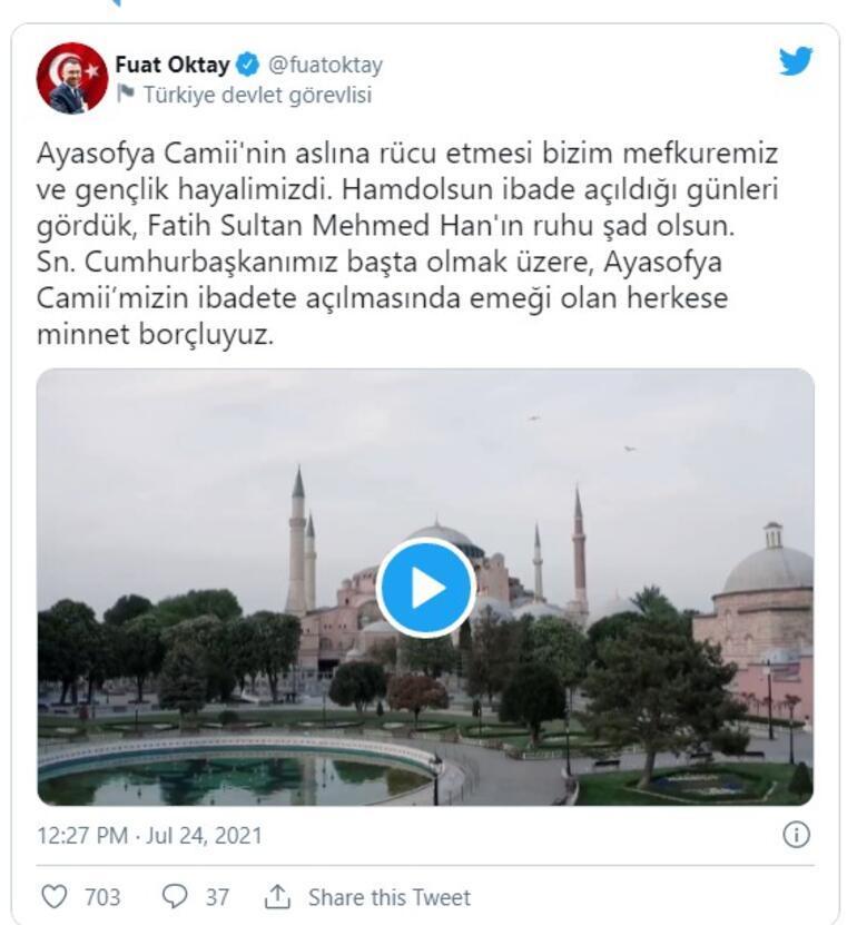 Son dakika... Cumhurbaşkanı Erdoğandan Ayasofya mesajı