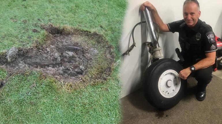 Bu olayda iki mucize oldu: Golf sahasında kocaman bir delik açtı