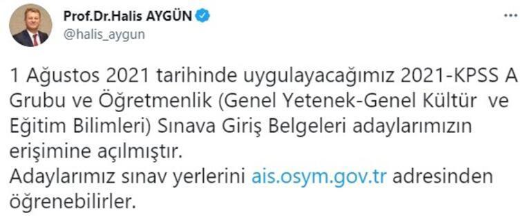 ÖSYM Başkanından KPSS açıklaması Erişime açıldı
