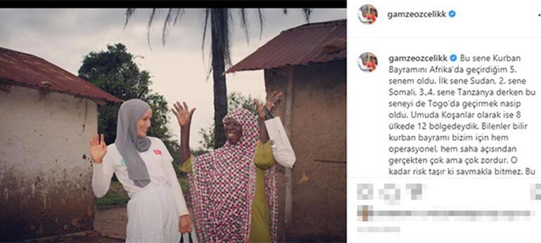 Gamze Özçelik bayramı Togoda geçirdi