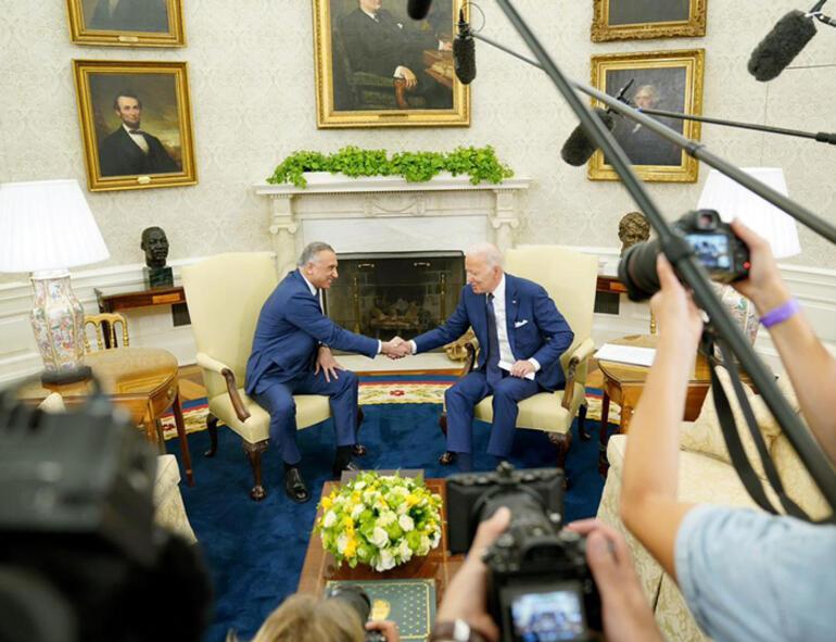 Biden ile Kazımi Beyaz Sarayda bir araya geldi