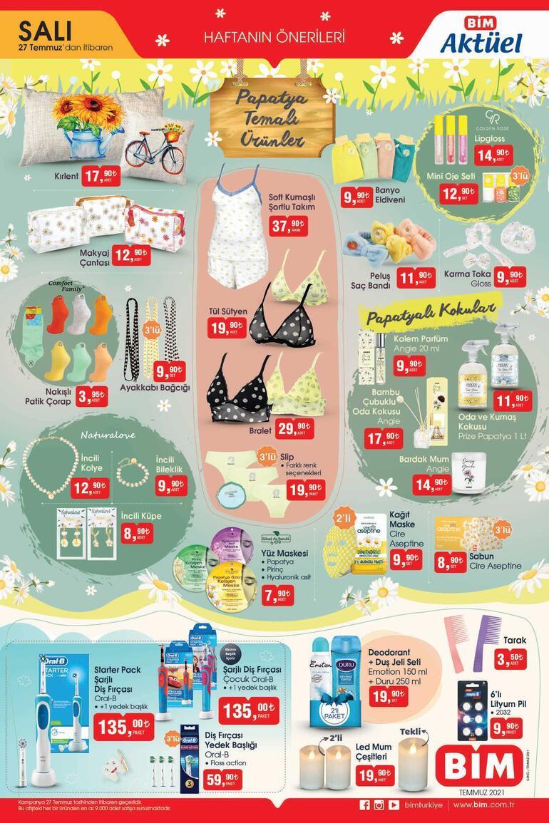 BİM aktüel ürünler kataloğu (27 Temmuz) BİM mağazaları sabah saat kaçta açılıyor/kapanıyor
