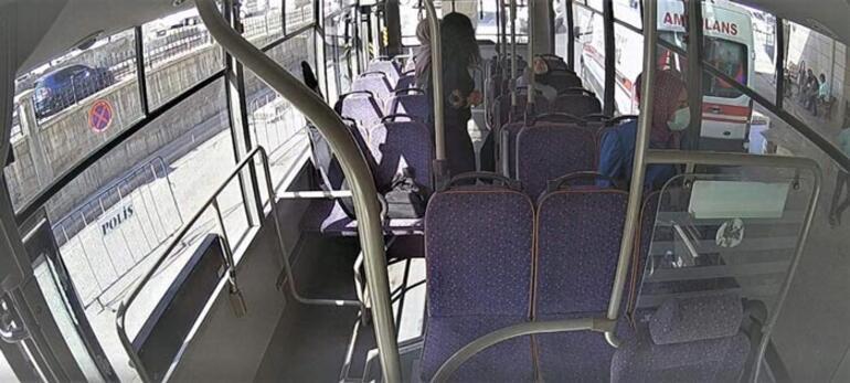 Yolcular fark etti şoför güzergah değiştirdi Otobüste panik anları