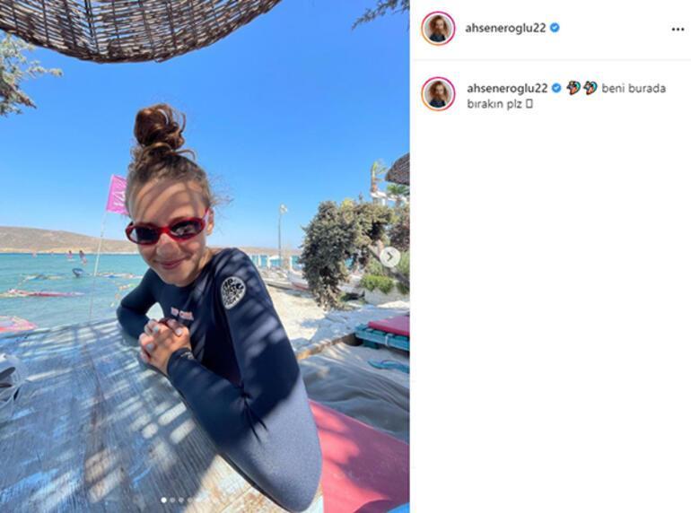 Ahsen Eroğlu rüzgar sörfü yaptı