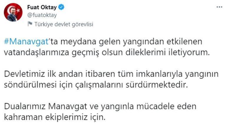Cumhurbaşkanı Yardımcısı Oktaydan Manavgat açıklaması