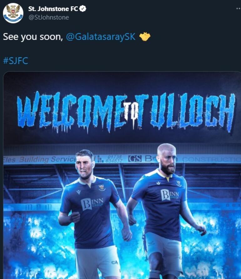 Son dakika haberi - Galatasarayın Avrupa Ligindeki rakibi St. Johnstone