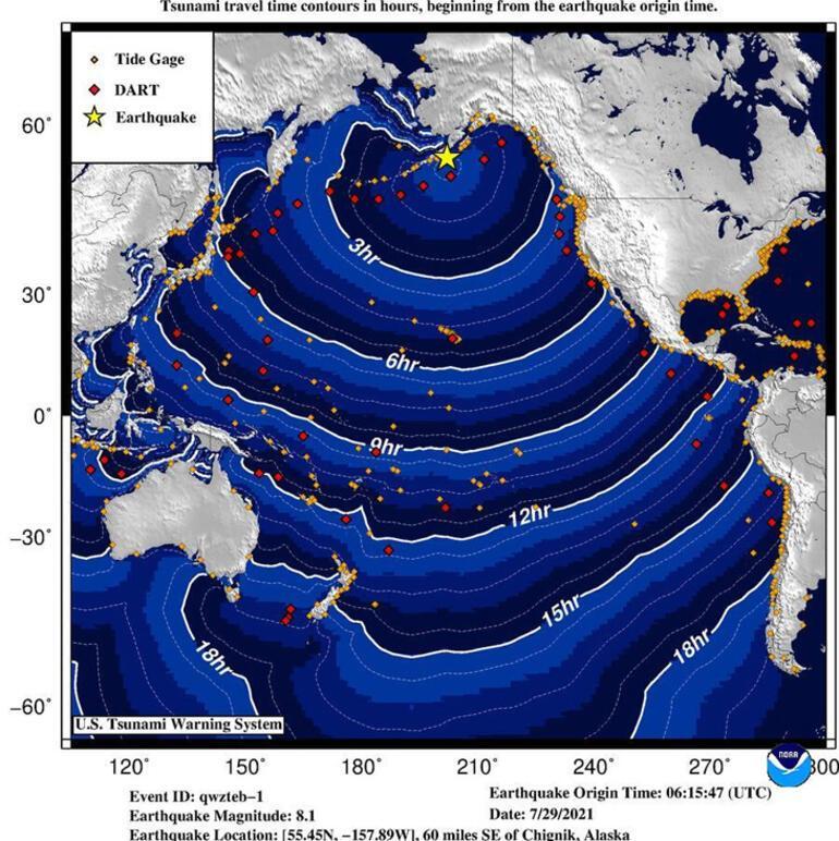 Son dakika... ABDde 8.2 büyüklüğünde deprem