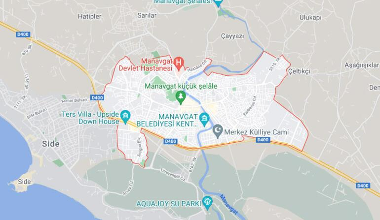 Manavgat nerede, hangi bölgede Manavgat harita