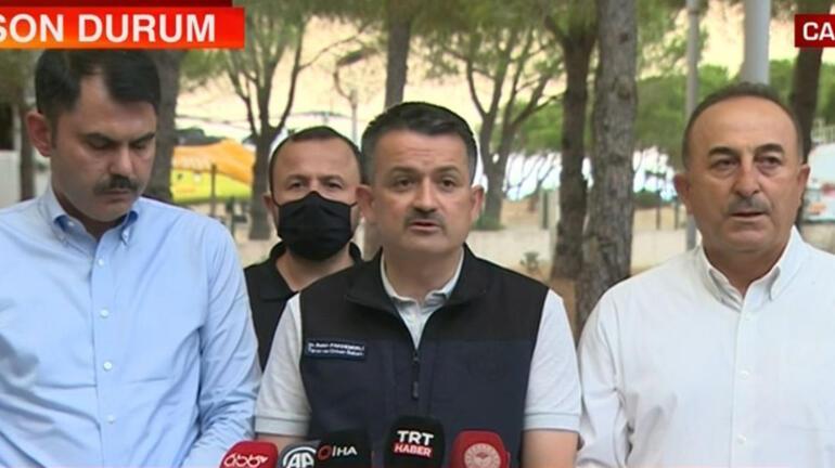 Türkiyenin 8 ilinde orman yangını Bakan Pakdemirliden flaş açıklama