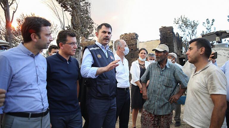 Bakan Kurum, Manavgatta incelemede bulundu