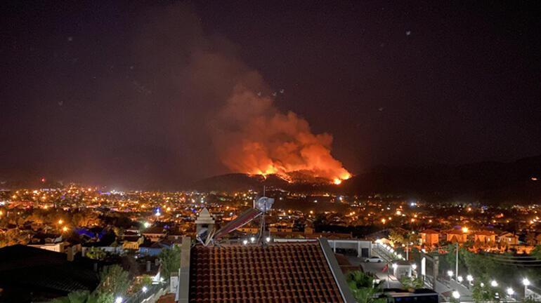 Son dakika: Muğlanın Fethiye ilçesinde orman yangını başladı