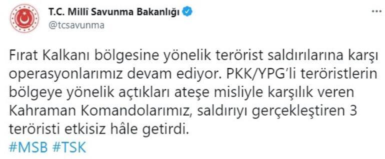 Fırat Kalkanı bölgesinde çatışma PKKlılar vuruldu