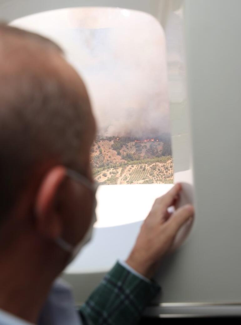 Son dakika... Cumhurbaşkanı Erdoğan yangın bölgesinde incelemelerde bulundu
