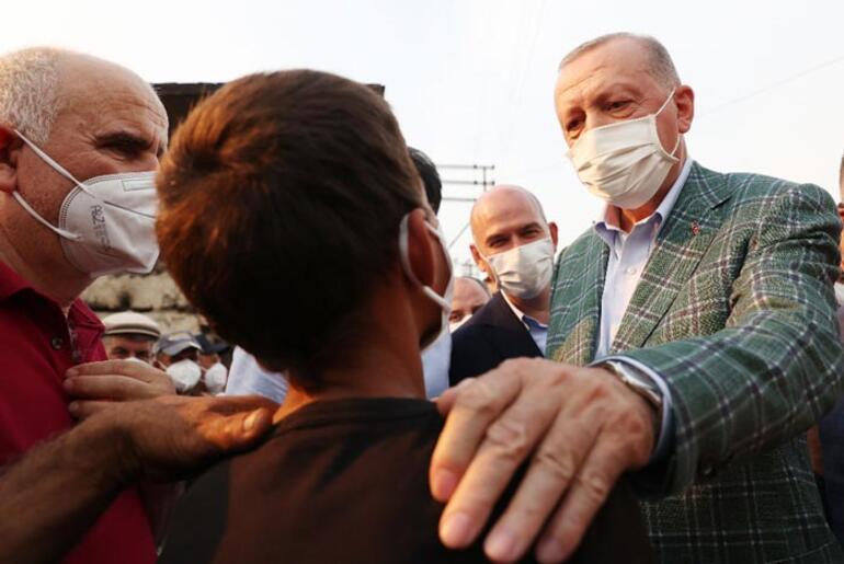 Cumhurbaşkanı Erdoğan, Manavgatta vatandaşlarla bir araya geldi