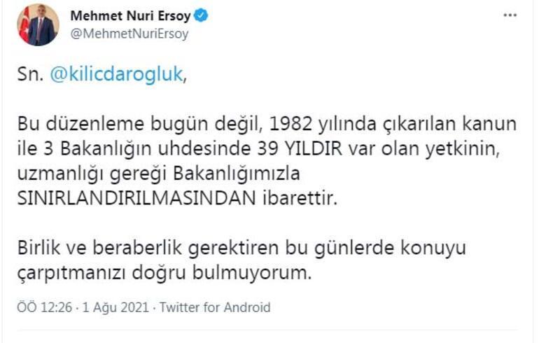 Kılıçdaroğlunun yapılaşma yetkisi iddiasına Bakan Ersoydan yanıt