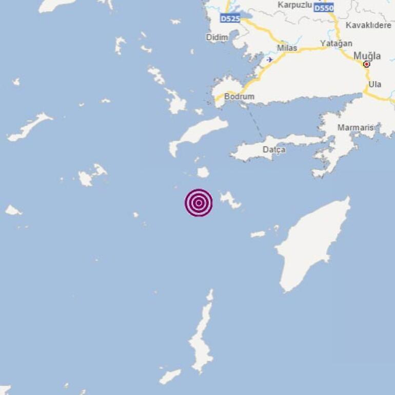 Son dakika Ege Denizi Muğla açıklarında bir deprem daha