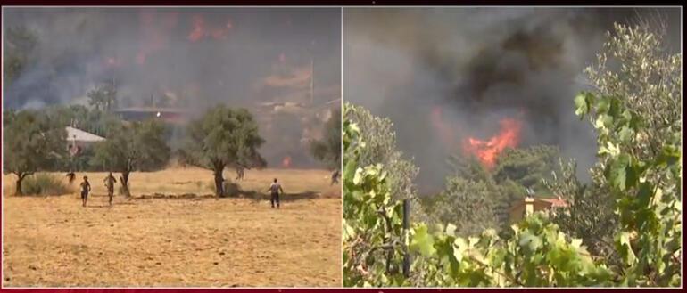 Son dakika haberi... Yangın kabusu 6. gününde Gündoğmuşta yangın evlere sıçradı