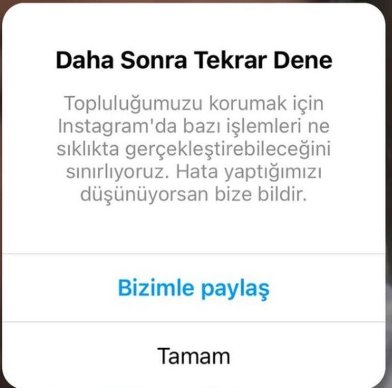 Instagram daha sonra tekrar dene hatası nedir Instagrama kısıtlama mı geldi