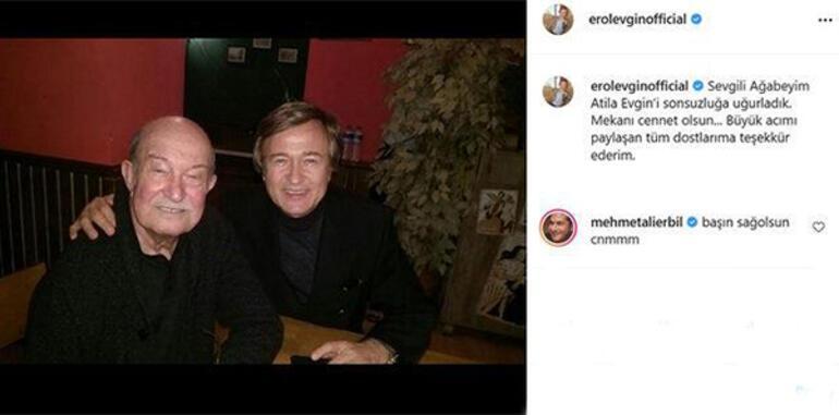Erol Evginin acı günü Sosyal medyadan duyurdu