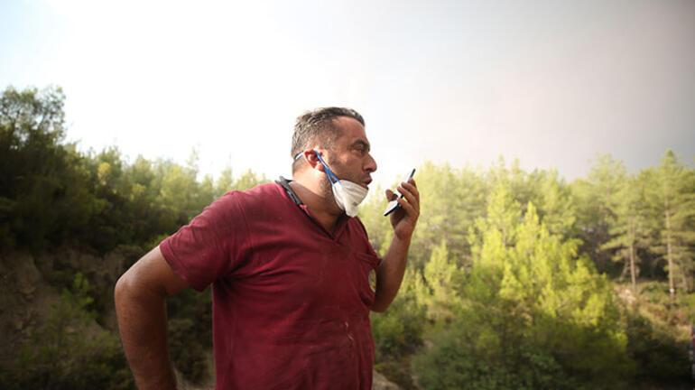 Yer: Manavgat Alevlerin ortasında ağlatan telefon