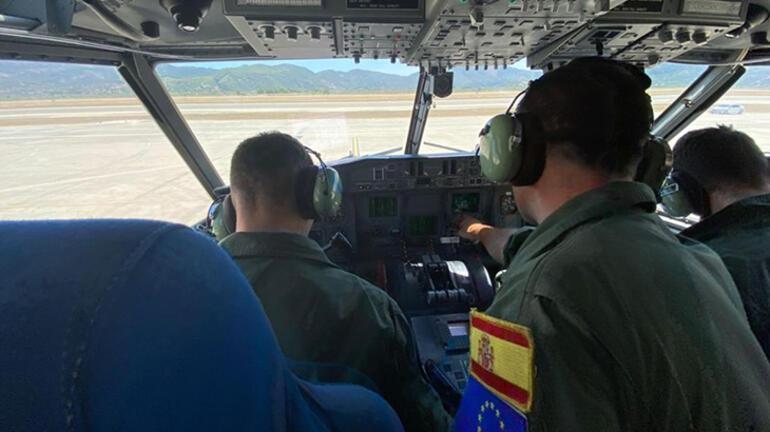 Son Dakika Haberi: İspanyanın gönderdiği 2 yangın söndürme uçağı Dalamana ulaştı