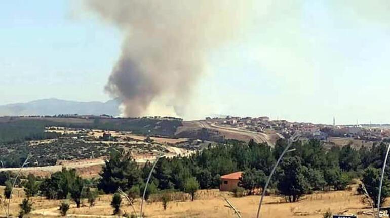 Uşaktaki orman yangınında 8 hektar alan yandı