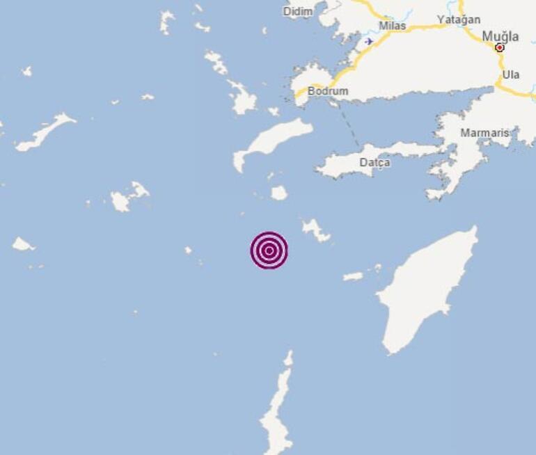 Son dakika Ege Denizi Muğla açıklarında deprem