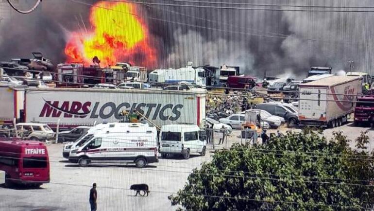 Yediemin otoparkında yangın 86 araç kullanılamaz hale geldi