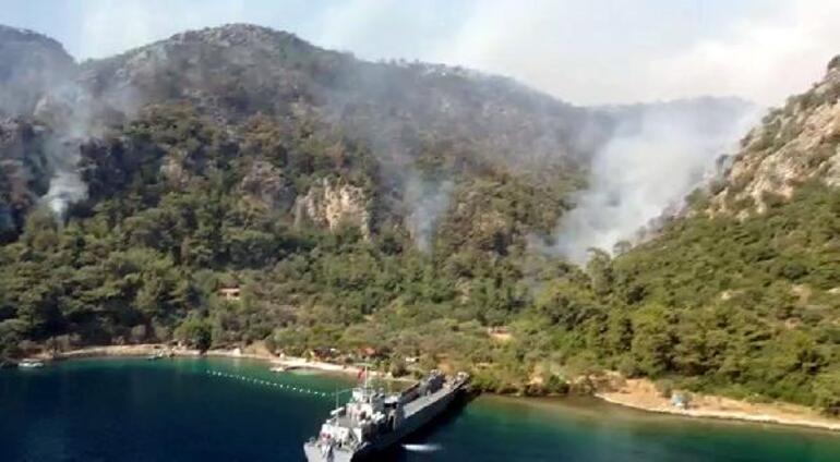 Marmariste orman yangını 4 mahallede kısmen kontrol altında