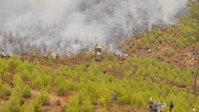 Son Dakika Haberleri: Yangınlarda 10. gün Yangın Yeniköy Termik Santraline yaklaştı...