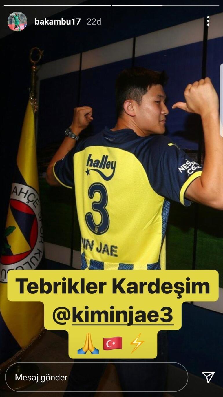 Cedric Bakambu, Fenerbahçenin yeni transferi Kim Min-Jaeyi tebrik etti