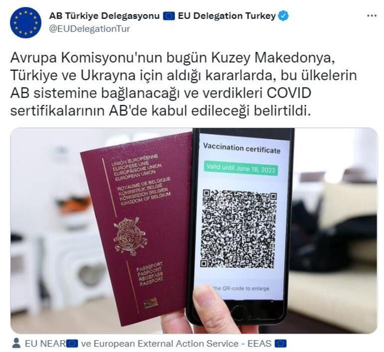 Son dakika: AB, Türkiyenin aşı sertifikasını tanıma kararı aldı