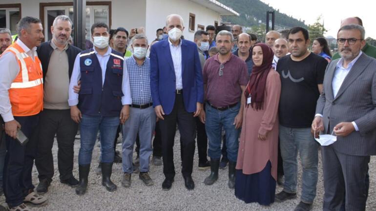 Kurtulmuş Sinopta selden etkilenen bölgelerde incelemelerde bulundu