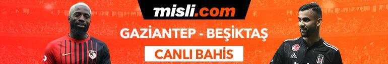 Gaziantep FK-Beşiktaş maçı canlı bahis seçeneğiyle Misli.comda