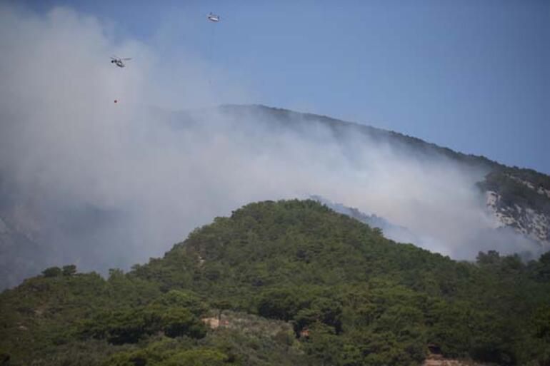 Son dakika Kazdağlarında orman yangını Ekipler bölgede