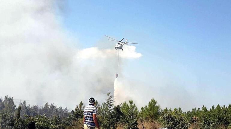 Edirnede ATV aracındaki yangın ormana sıçradı