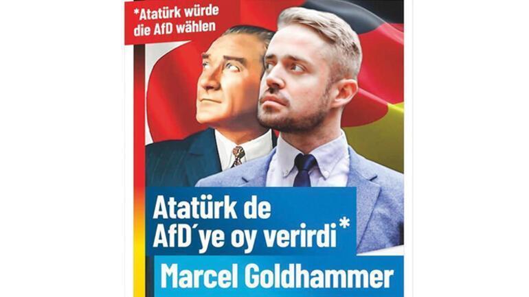 Almanyada skandal Atatürk afişine büyük tepki yağıyor