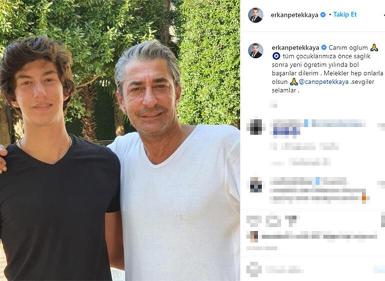 Erkan Petekkaya oğlu Canoyu paylaştı