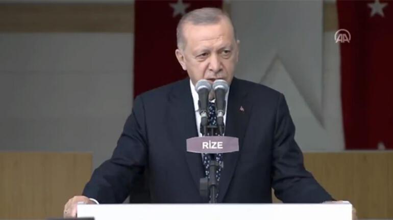 Son dakika Erdoğandan Rizede net mesaj: Asla müsaade etmeyeceğiz