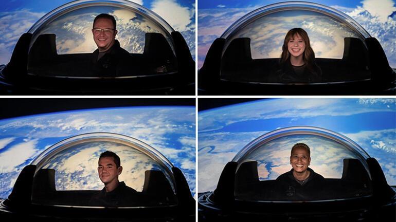 SpaceXin ilk sivil uçuşta kullanılacak olan cam kubbesi sahnede