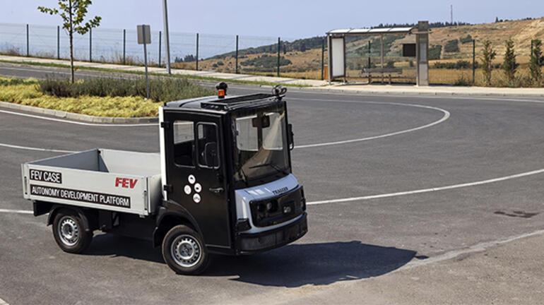 Yerli elektrikli hizmet aracı Tragger otonom test sürüşlerinde