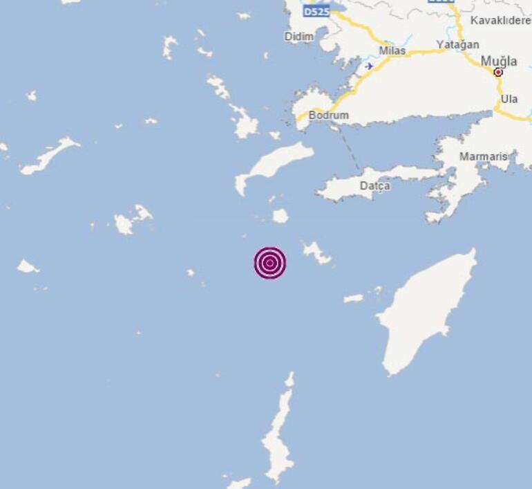 Son dakika Ege Denizi Datça açıklarında deprem
