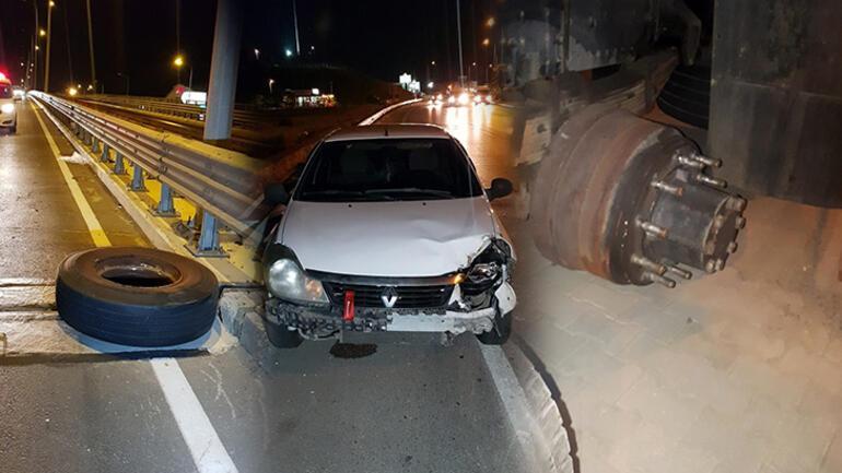 Kamyonun fırlayan tekeri Lamiayı öldürdü Diğeri kazaya neden oldu
