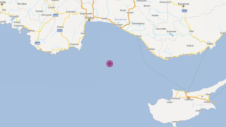 Son dakika Akdenizde deprem AFAD duyurdu