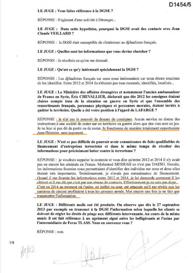 Son dakika... Lafargeın DEAŞı finanse ettiğini kanıtlayan belgeler Fransız gizli servisi biliyordu
