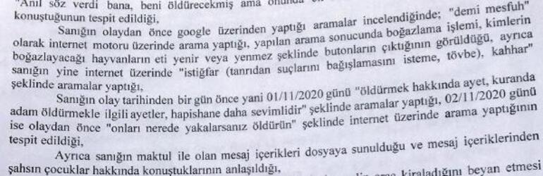 Eski eşini vahşice öldürmüştü Dehşete düşüren Google aramaları
