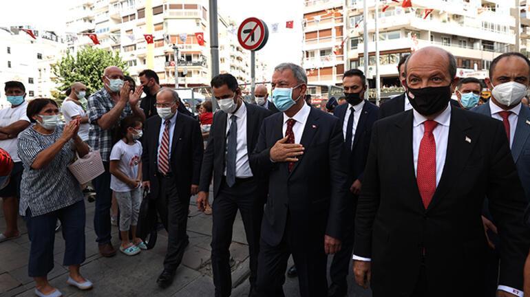 KKTC Cumhurbaşkanı Tatar ve Bakan Akar, İzmir Airshowu izledi